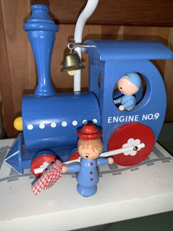Vintage Underwriters Laboratories Originals Portable Train Lamp Music Box.