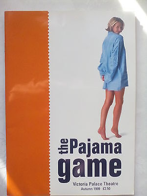 THE PAJAMA GAME.LONDON.VICTORIA PALACE PROGRAMME TICKETS 21-9-99.A DOBSON.L ASH