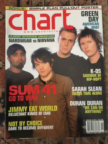 Sum 41 cover CHART magazine 2004 Simple Plan poster Green Day American Idiot