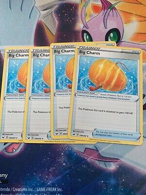 Pokemon - 4x Big Charm Playset - Sword and Shield #158/202 - M-N/M