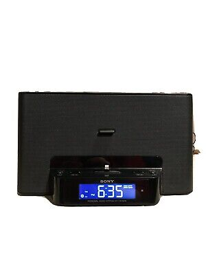 Sony ICF-CS15iPN Lightning iPhone/iPod Clock Radio Speaker Dock Antenna Remote