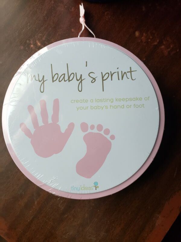 Girl baby handprint footprint kit Pink New Sealed Memory Gift Infant