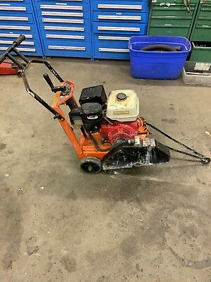 Diamond Core Cut Cc 1300 Walk Behind Concrete Asphalt Floor Road Saw Honda Motor