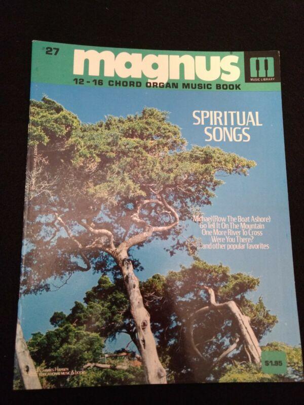 Magnus 12-16 Chord Organ Music book #27 Spiritual Songs