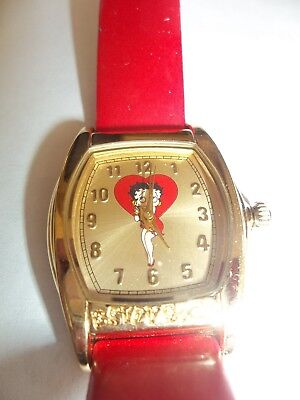 BETTY BOOP WATCH WITH RED BAND 2002 - NO BOX