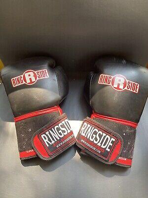 Ringside Boxing MMA Kickboxing Gel Shock Safety Sparring 16oz Gloves - Black