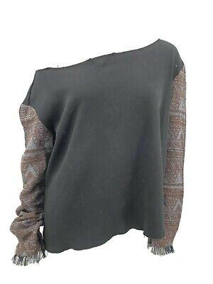 New Macchia J Sweatshirt Womens Medium Black Off Shoulder