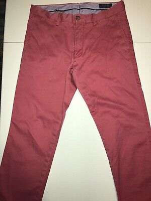 POLO RALPH LAUREN Stretch Slim Fit Chino Pants - Nantucket Red - Mens 30x30