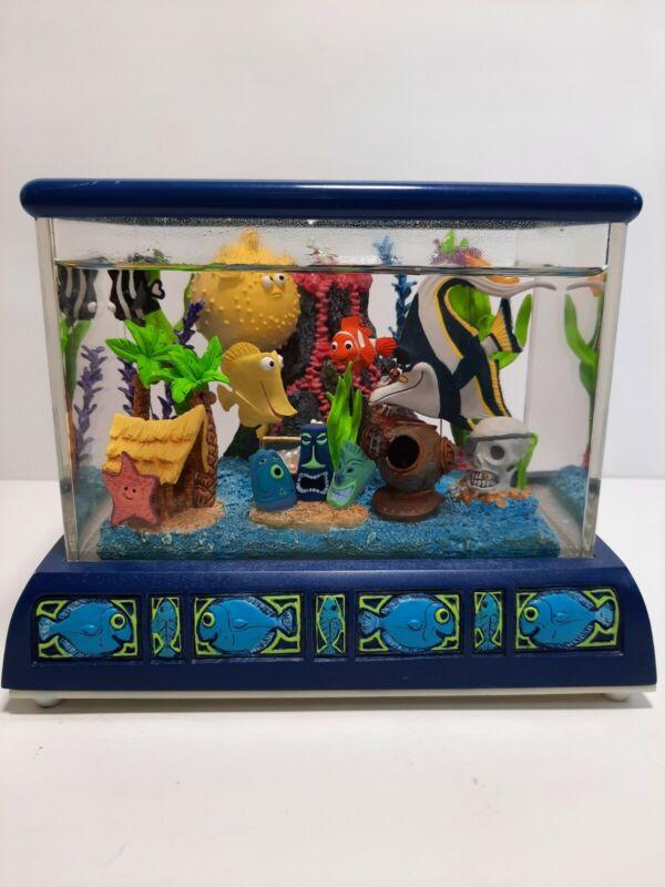 Disney Pixar Finding Nemo Aquarium Fish Tank Snow Globe Music Box Tiny Bubbles
