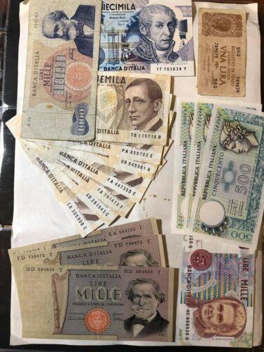 italy italia 17 notes 30501 lire LOTTO 405