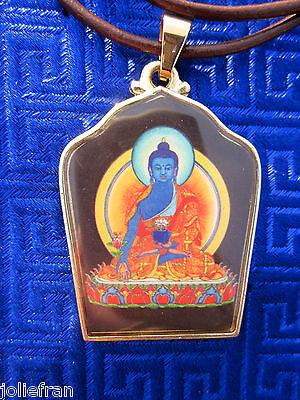 RARE SPECIAL HEALING MEDICINE BUDDHA GOLDPLATED TIBETAN BUDDHIST PENDANT NECKLCE