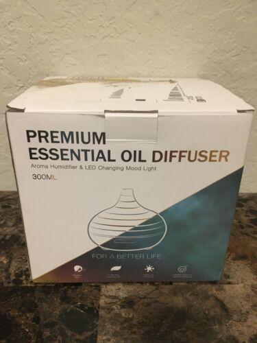 300ml premium essential oil diffuser and led