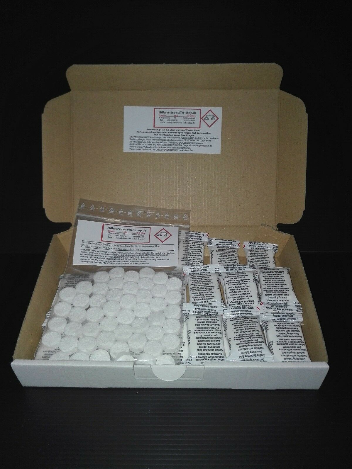 100 cleaning 30 descaling tablets for Siemens Bosch Miele Melitta coffeemachine