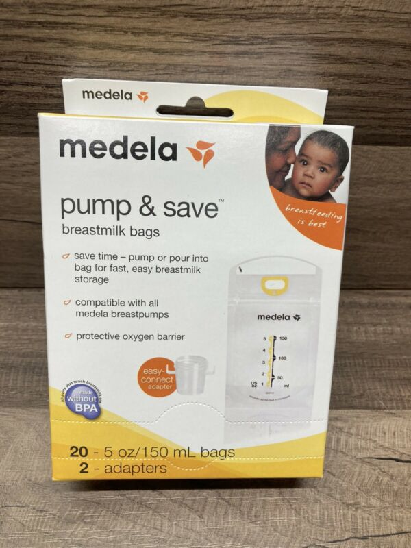 Medela Breast Milk Storage Bags Pump & Save 20 count 5oz Sealed NEW