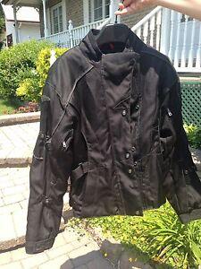Manteau moto pour femme