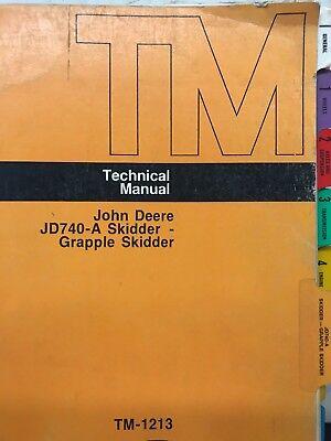 John Deere Jd740-a Skidder And Grapple Skidder Techincal Manual