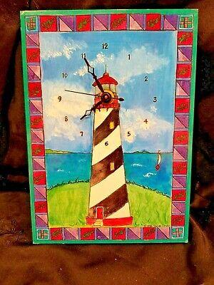 Handmade Lighthouse Wall Clock by Pam Corwin of Paper Scissors Rock Studio