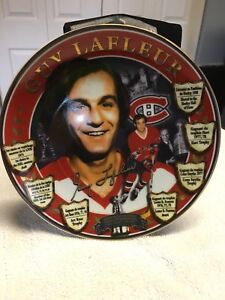 Limited edition numbered Guy Lafleur plate