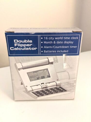 Calculator Double Flipper Calculator 2004 SCMC Cool Retro Calculator Auto Open