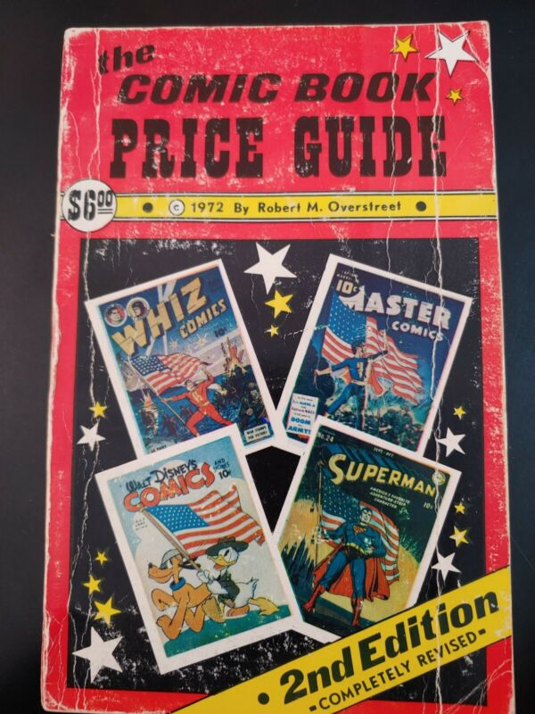(1) OVERSTREET Comic Book PRICE Guide 1972, #2, 2nd Edition GD Book