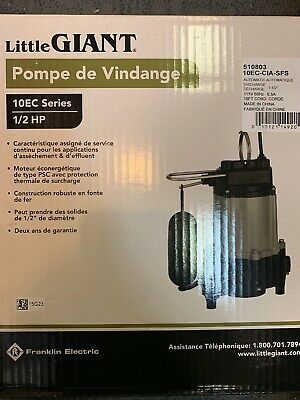 Little Giant 10ec-cia-sfs - 12 Hp Sumpeffluent Pump Brand New