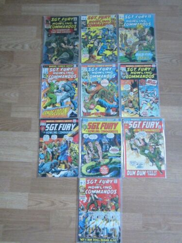 Sgt. Fury and his Howling Commandos Lot  Marvel Comics