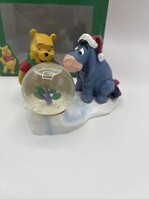 Disney Winnie The Pooh 45mm Glass Waterglobe Snowglobe Eeyore Christmas Tree