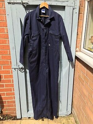 Vintage Navy Blue Jumpsuit Boiler Suit Approx UK size 16 See Measurements