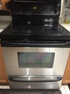 GE stainless steel electric range