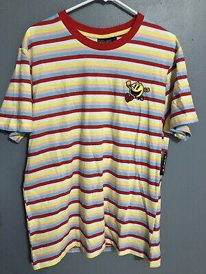 Pac-Man Stripe T-Shirt Size Large