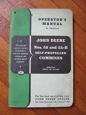 John Deere 55 55-R Combine operators manual ORIGINAL