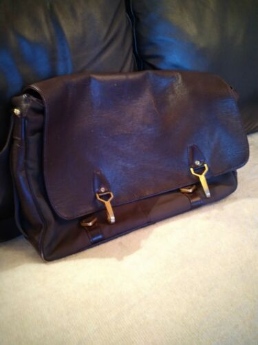 Louis vuitton sac cuir leather handbag messager