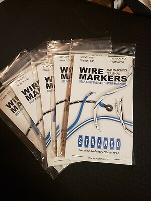Wire Marker Books Lot  1-45 5 Book Lot With 10 Pg. Ea.