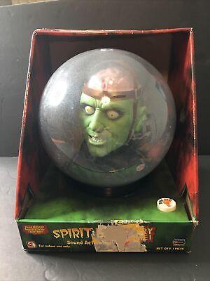 Halloween Gemmy Spirit Ball Frankenstein Green Monster Brain Animated Talking
