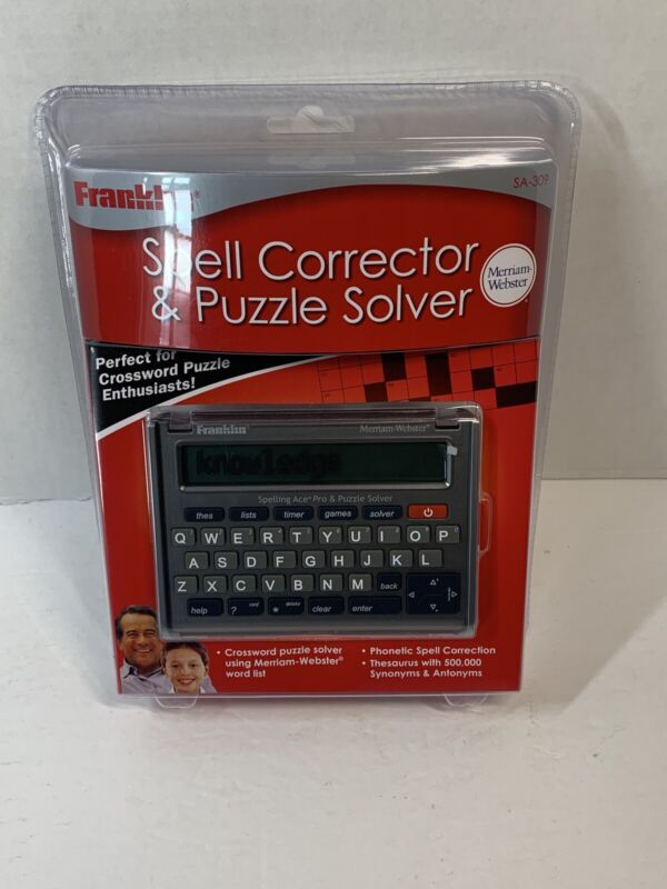 Franklin Spell Spelling Corrector & Puzzle Solver SA-309 Crossword - Webster NEW