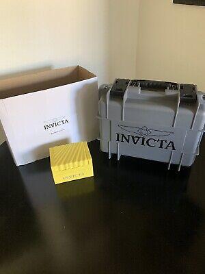 invicta 8 slot dive case/ Bonus Invicta Yellow 1.watch box