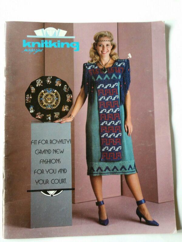 KnitKing Vol. 20 #2 1986 Vintage Machine Knitting Patterns Sweaters Dress Skirt