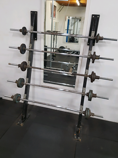 Barbell Rack with Barbells