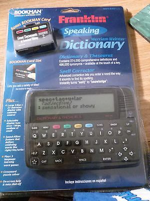 Franklin Bookman Speaking Merriam-Webster Dictionary and Thesaurus MWS-840PLUS
