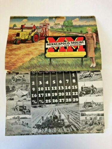 Vintage 1938 Minneapolis Moline Calendar and Yearbook