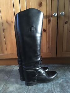 Leather pull on field boots