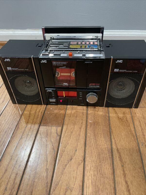 NOS RARE Vintage JVC PC-RM100JW Boombox Detachable Portable Cassette Read