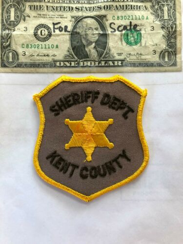 Rarer Kent County Delaware Police Patch (Sheriff Dept.) Un-sewn in great shape