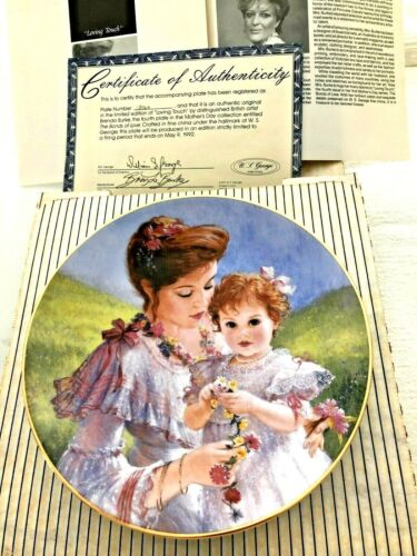 Brenda Burke Loving Touch Collector Plate Mother Child Mothers Day MIB COA