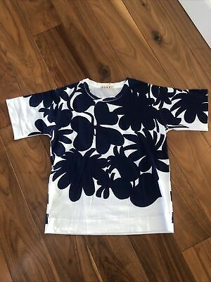 Marni Blue / White Short Sleeved Top Size 42