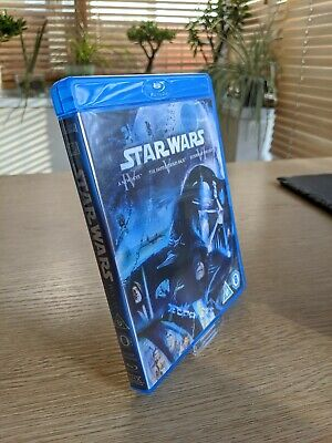 STAR WARS Trilogy (Blu-ray, 3-Disc) NEW HOPE, EMPIRE STRIKES BACK, RETURN JEDI