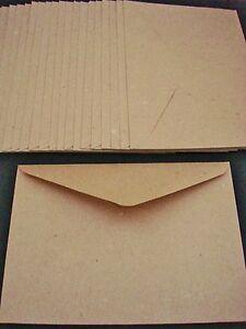 20 Kraft C6 Envelopes Brown Recycled Craft Card Making Cardmaking FREE POSTAGE