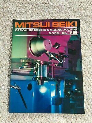 Mitsui Seiki 7b Optical Jig Boring And Milling Machine Sales Catalog