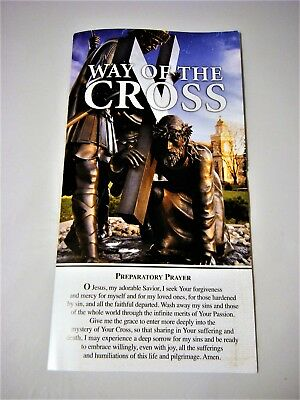 Catholic Stations Way of the Cross Prayer/Meditation Card Leaflet