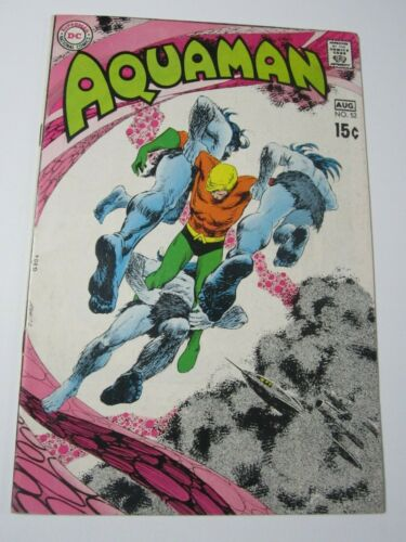 AQUAMAN Vintage DC Comic Book (#52, August 1970) Nick Cardy Cover Art Neal Adams